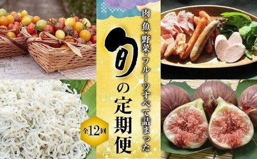肉・魚・野菜・フルーツすべて詰まった旬の定期便(全12回お届け) H028-011