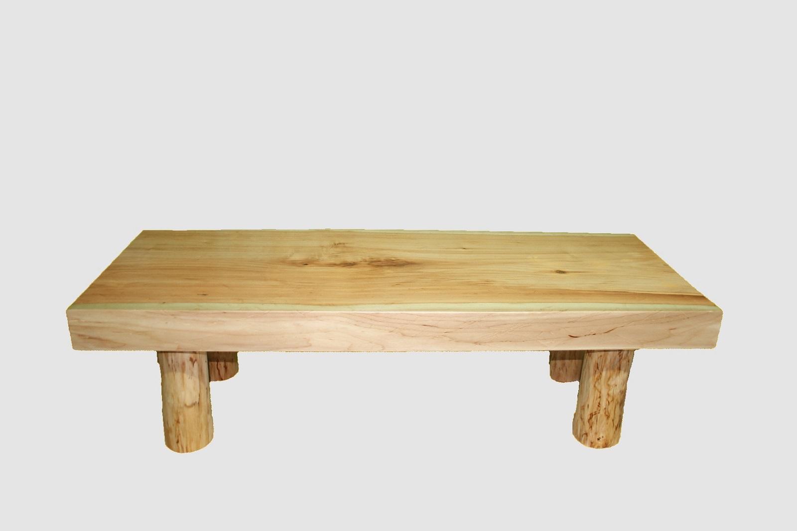 【57】座卓(テーブル)バッコヤナギ・一枚天板【厚さ約8.0cm】