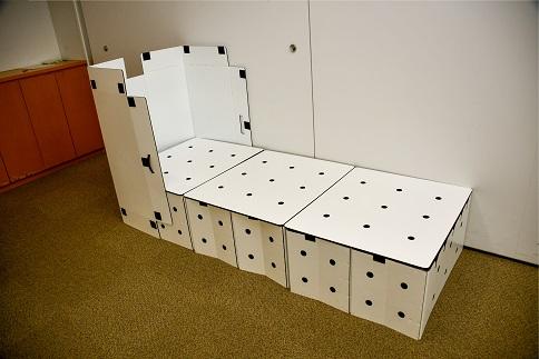 S132 【災害用・避難用】ポリプロピレン製 折り畳み式簡易ベット 抗菌・耐水・屋外使用可