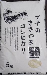 2-49A 令和2年産 「ブナのささやきコシヒカリ」5kg