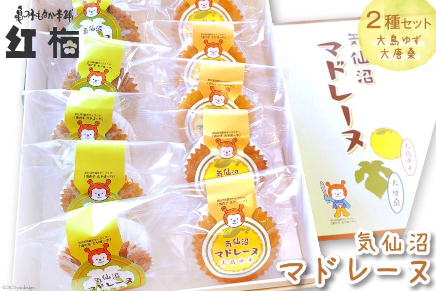 大島ゆずと大唐桑茶を味わえるマドレーヌ2種セット