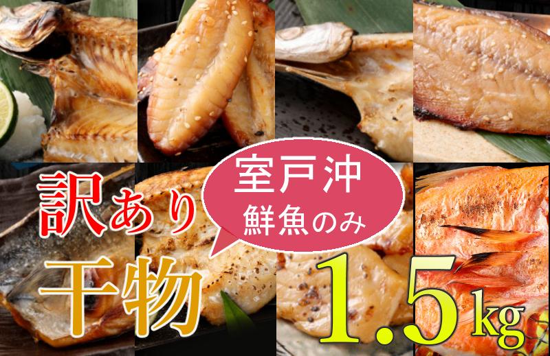 NK032【訳あり】室戸産地魚干物セット(約1.5kg)<コロナ支援 傷あり 規格外>