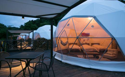 150M47 ドーム型テント 宿泊ペアプラン[髙島屋選定品]