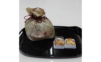 ※焼き菓子 銘菓・かぶちまつたけをシックな巾着袋に入れてお届け。全国菓子大博覧会で名誉総裁賞受賞!