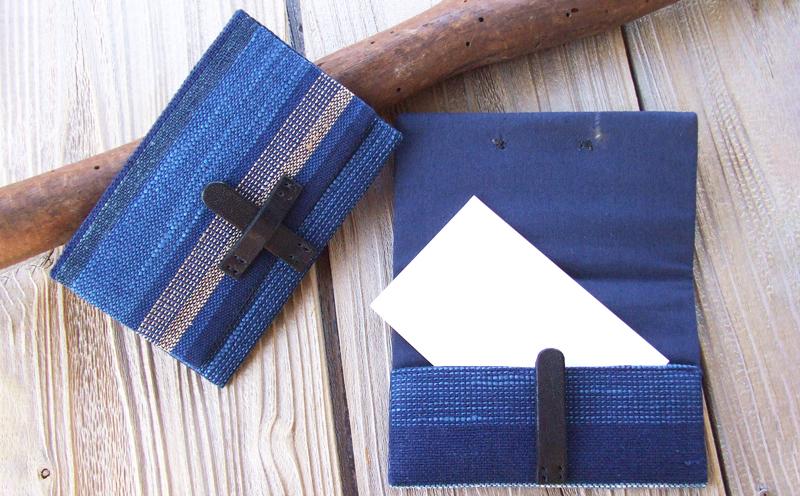 【琉球藍染め 手織り】名刺入れ