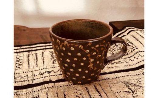 南陶窯 広口マグカップ【ドット】