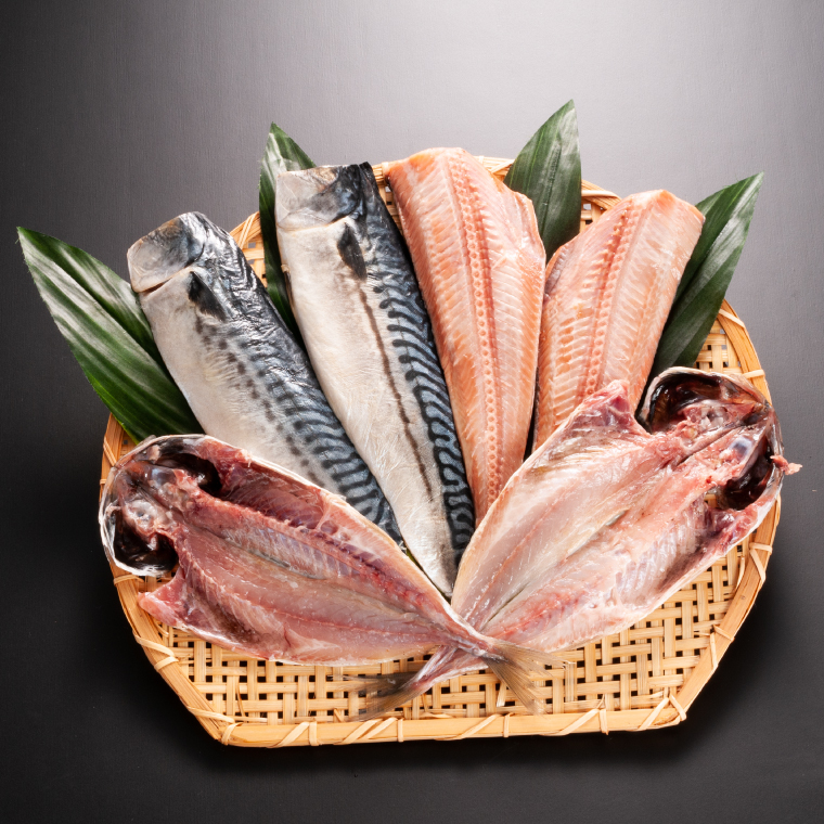 AB006_低温熟成干物と鮭の切身セット