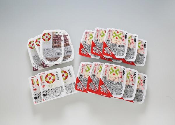 パックごはん食べ比べ つや姫&雪若丸&雪若丸玄米(19パック)
