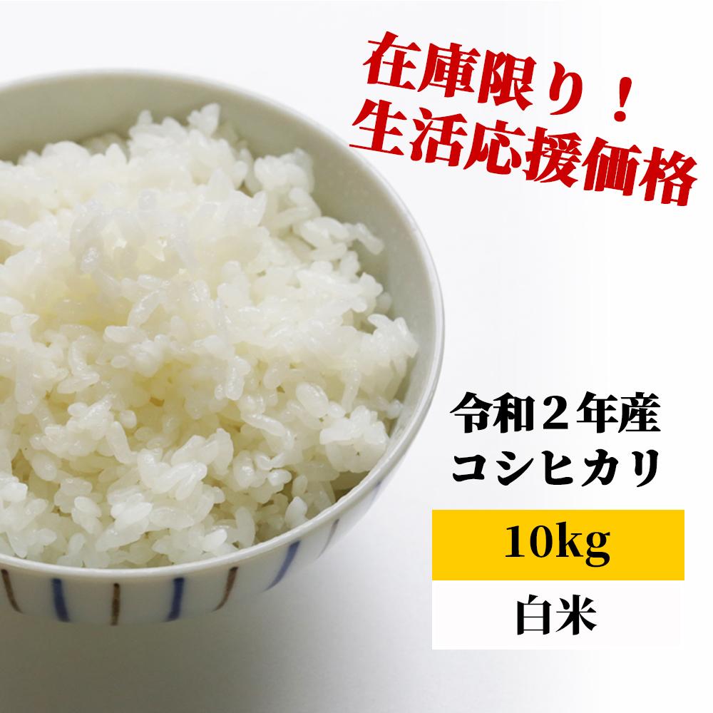 <令和2年産>K20 あわくら源流米 コシヒカリ 白米10kg
