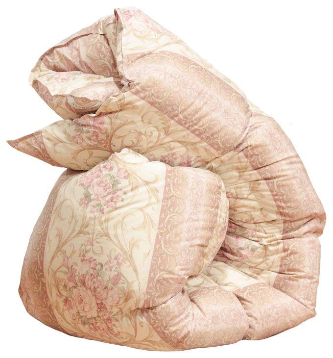 寒冷地仕様の御殿場スペシャル羽毛布団「ブロンズ」シングルサイズ150cm×210cm 中国ホワイトダック85% 1.5kg 柄:セーナ【ピンク】