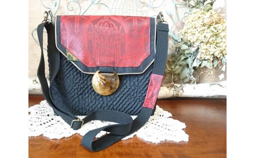 No.198 畳へりと帯のショルダーバッグ&デイリーバッグ / 伝統 織物 カバン 千葉県