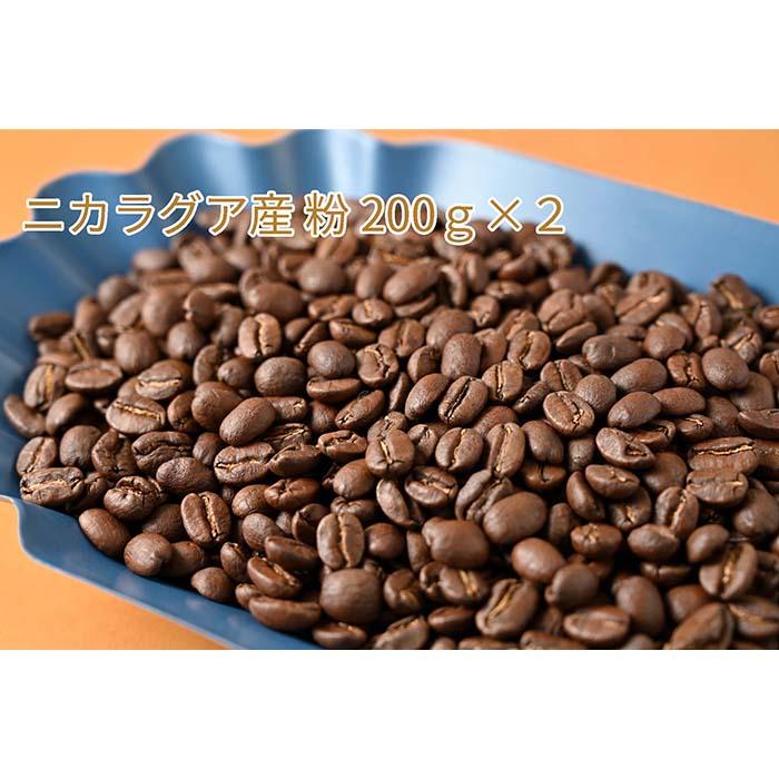 C-3 カフェ・フランドル厳選コーヒー豆 ニカラグア産(200g×2)挽いた豆