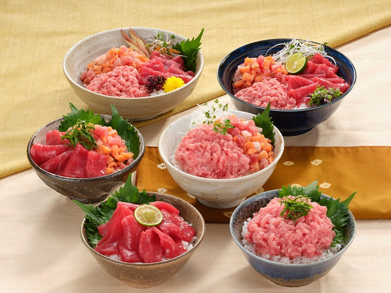 015B043 マグロ・サーモン丼ぶりセット1.6kg