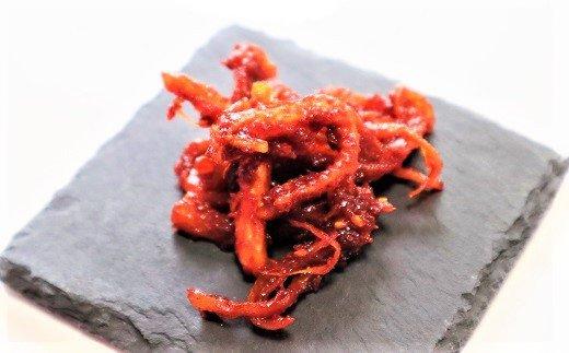 手作り 白菜キムチとさきいかキムチのセット 白菜キムチ500g さきいかキムチ80g 無添加無着色 国産野菜使用 H129-003