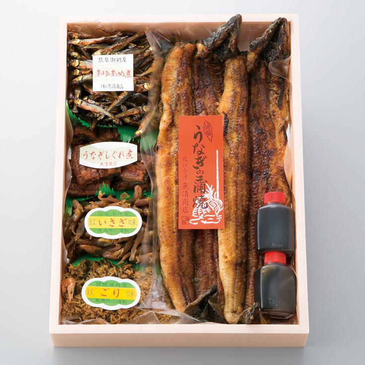 【B-434】魚清商店 炭火焼うなぎ・湖魚佃煮詰合せB [高島屋選定品]