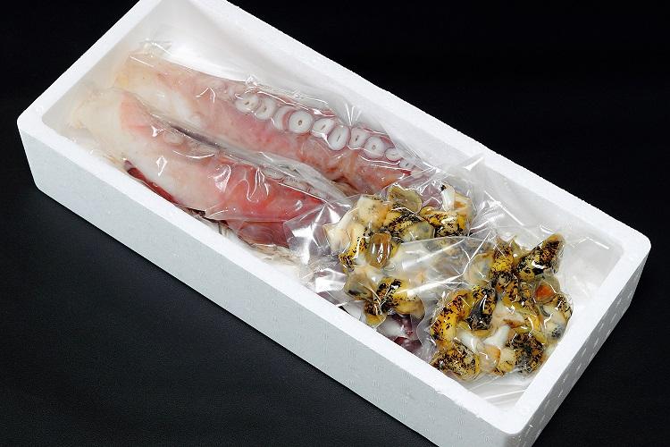 122 【北海道日高産】茹でたこ&つぶセット(たこ約1.2kg、つぶ約400g) 15,000円