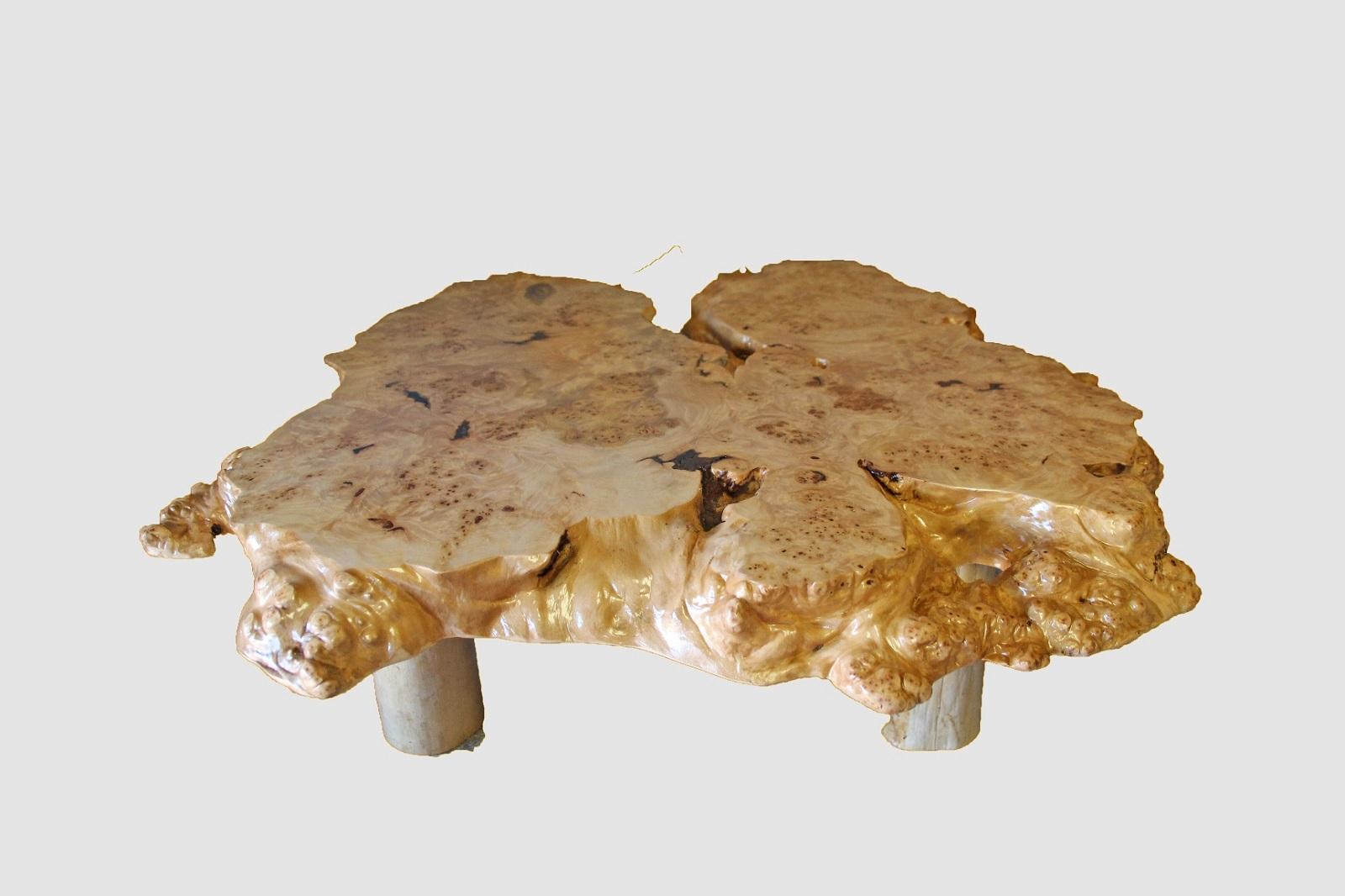 【46】座卓(テーブル)マカバ・一枚天板【厚さ約16.0cm】