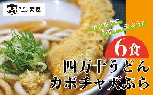 21-796.【数量限定】四万十うどんとカボチャの天ぷら6食セット