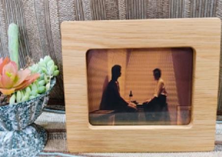 K1585【数量限定】経年変化を楽しめる木製フォトフレーム【オーク材使用】