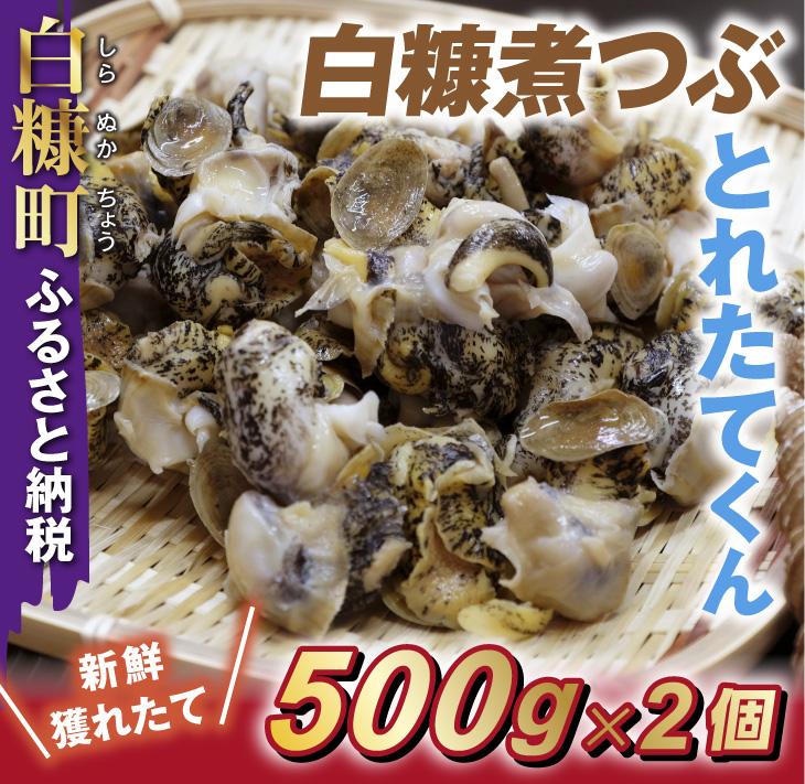 白糠煮つぶ(とれたてくん)【500g×2】