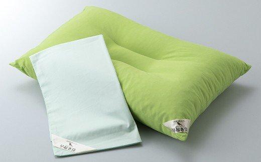 【K-833】近江産業 低反発ウレタンチップ枕「早起き鳥」(枕カバー付) [高島屋選定品]