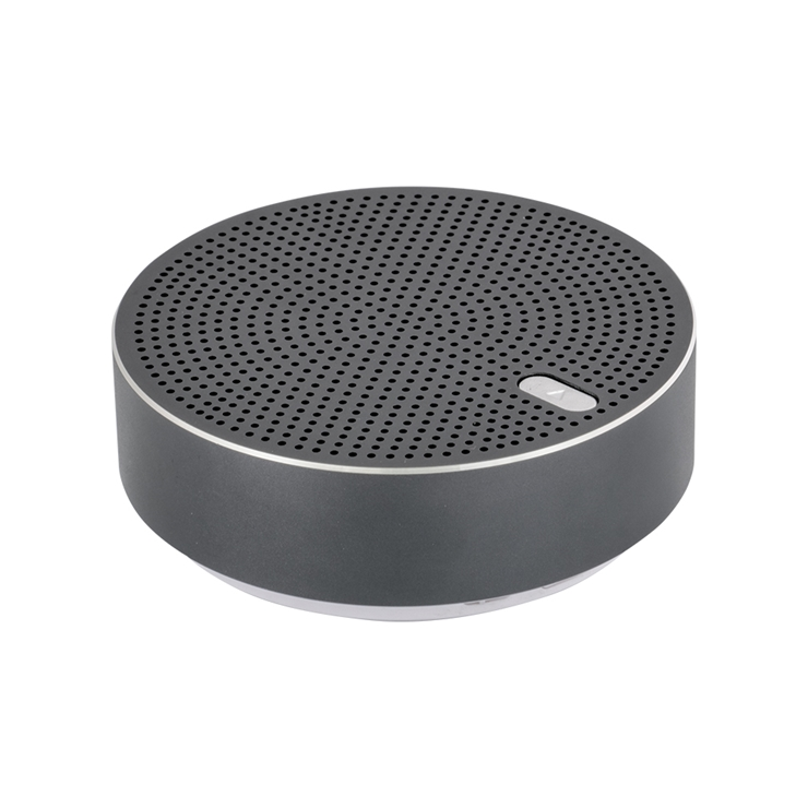 9-0102 ワイヤレスステレオモード対応 アルミニウム製 Bluetoothワイヤレススピーカー「Alu3」 (ブラック) OWL-BTSP03S-BK