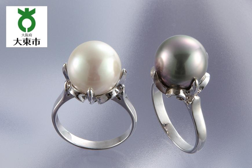大粒貝パール指輪・11号2本セット(同サイズ)