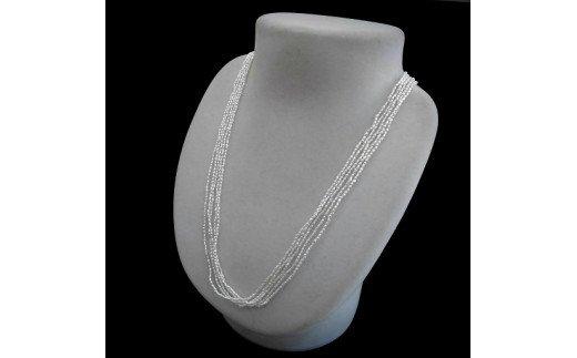 Q-20けし5連ネックレス(国産あこや本真珠)