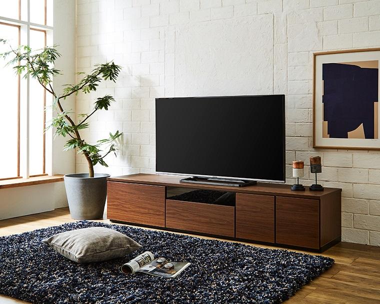 EL248_組み換えできる 幅180 テレビボード【設置/組立て付き】ブラウン[di03066]