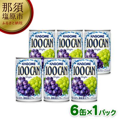 154-1041-09カゴメ 100CAN グレープジュース 160g 6缶パック