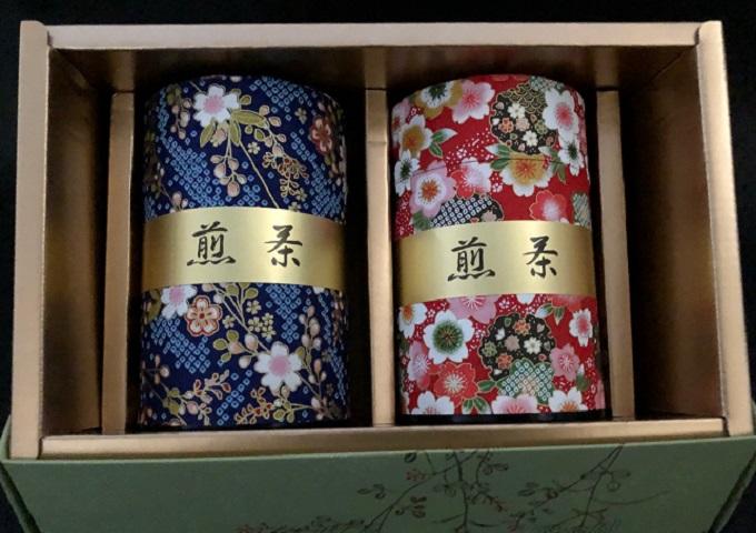 和紙缶 狭山茶(やぶきた)150g ×2缶箱入