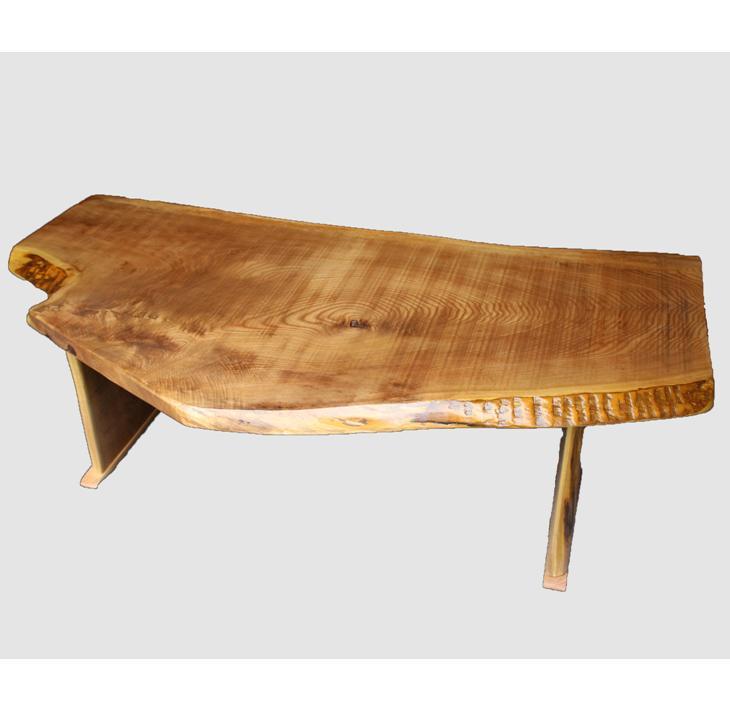 [11]座卓(テーブル)キハダ・一枚天板【厚さ約3cm 11kg】