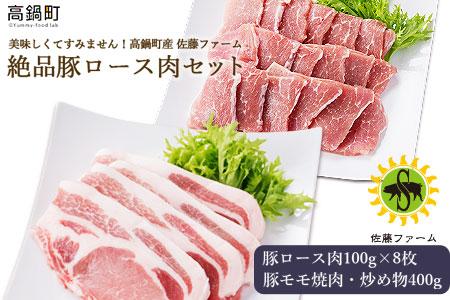 <高鍋町産 佐藤ファーム 絶品豚ロース肉セット合計1.2kg>翌月末迄に順次出荷【c483_ns】