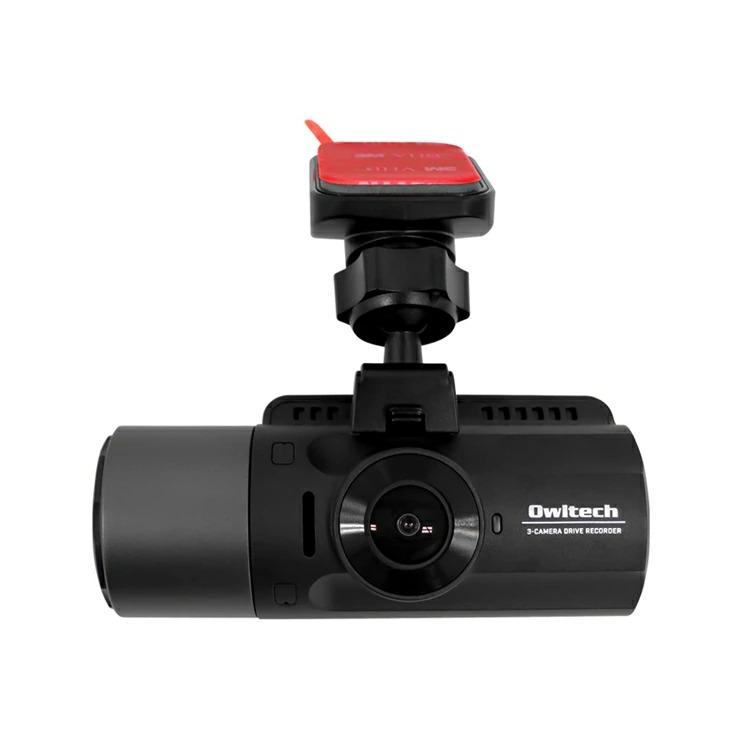 9-0086 車の前後・車内の3カメラ同時録画 夜間に強い高画質ドライブレコーダー OWL-DR803FG-3C