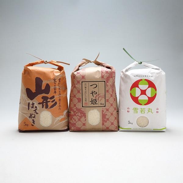 渡會さんのうまい米!つや姫・雪若丸・はえぬき食べ比べセット
