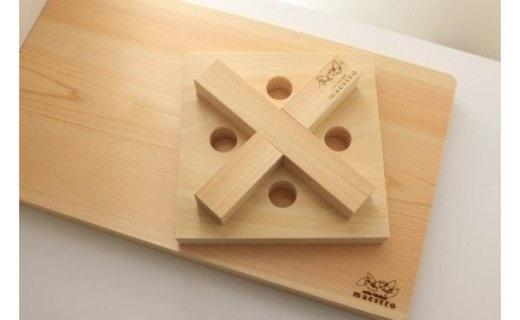 AA6018_紀州ヒノキまな板とX〇鍋敷き【ギフト対応】