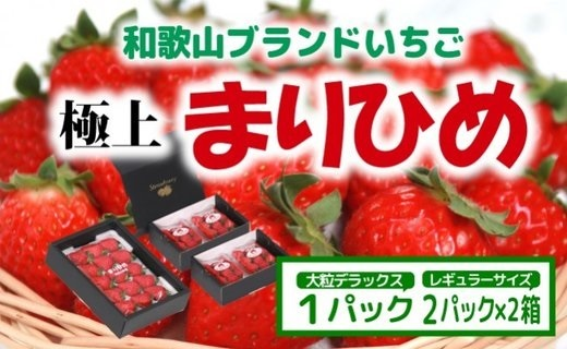 ZA94008_【先行予約】大粒特選まりひめ1箱&レギュラーまりひめ2パック×2箱化粧箱入り