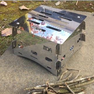 K1682 コンパクト【組み立て式焚⽕(焚き火)台】ステンレス製 BBQ キャンプ