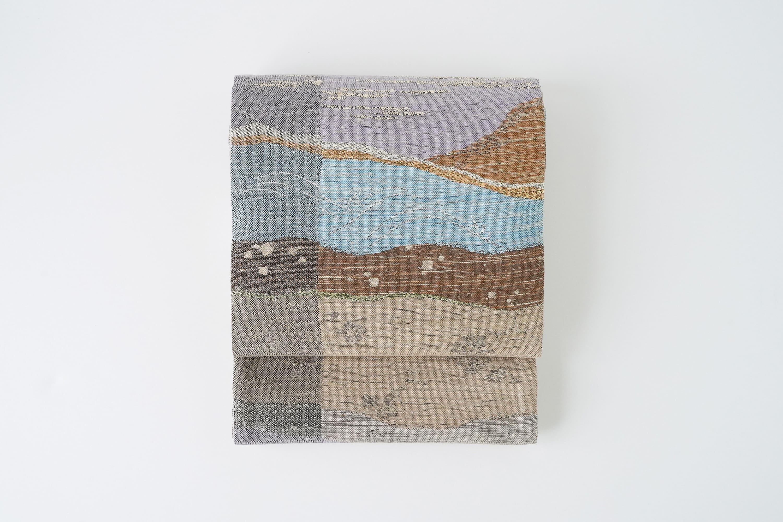 丹後の藤布 袋帯 「悠久の空間」 全通