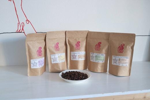 北海道三笠市 2 Beans Coffeeカフェ 自家焙煎 珈琲豆セット(100g×5種類)【01055】