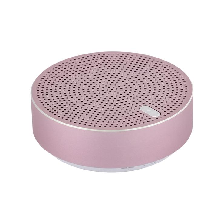 9-0103 ワイヤレスステレオモード対応 アルミニウム製 Bluetoothワイヤレススピーカー「Alu3」 (ローズゴールド) OWL-BTSP03S-RG