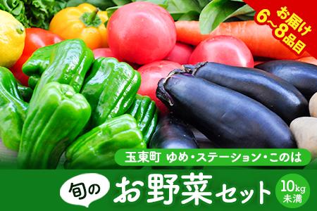 季節の野菜詰め合わせセット 6~8品目 10kg未満《30日以内に順次出荷(土日祝除く)》ゆめ・ステーション・このは 旬の野菜 キャベツ じゃがいも にんじん トマト 大根 送料無料