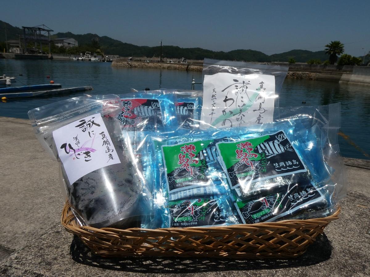 B-102 笠岡諸島からの贈り物 「瀬戸の島のり(コラボ)」&季節の商品 Cセット