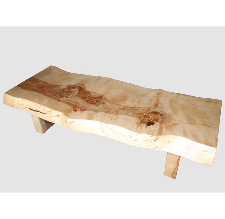 [35]座卓(テーブル)マカバ・一枚天板【厚さ約7.5cm】