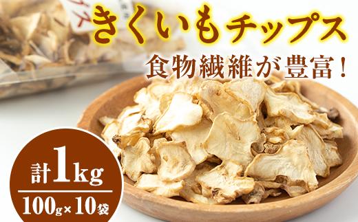 【36708】食物繊維が豊富!きくいもチップス(100g×10袋)【村山製油】