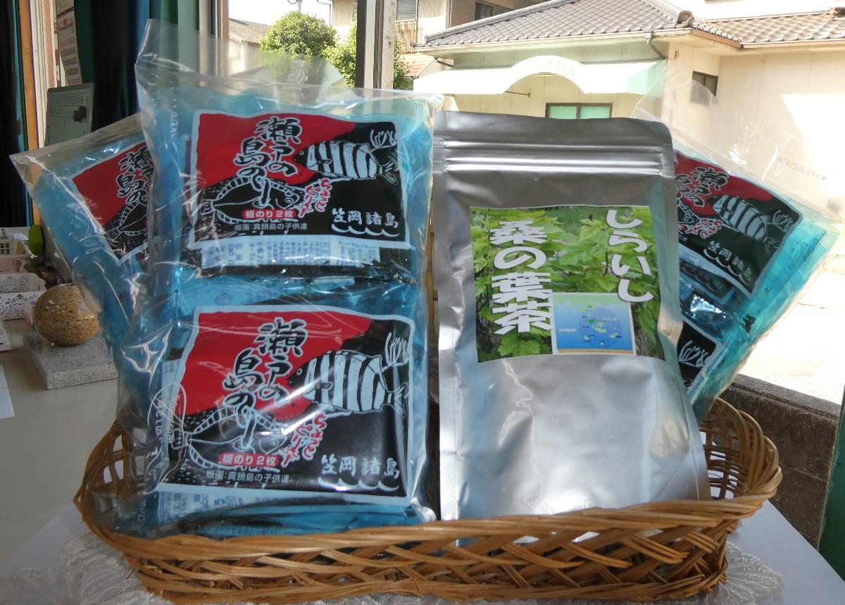 A-130 笠岡諸島からの贈り物 「瀬戸の島のり(ピリ辛)」&季節の商品 Bセット