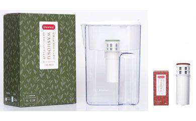 クリンスイポット型浄水器 WASHOKUシリーズ「お茶をおいしくするための水(JP407-T)」 お米用交換用カートリッジ付 (幸田町寄附管理番号1910)