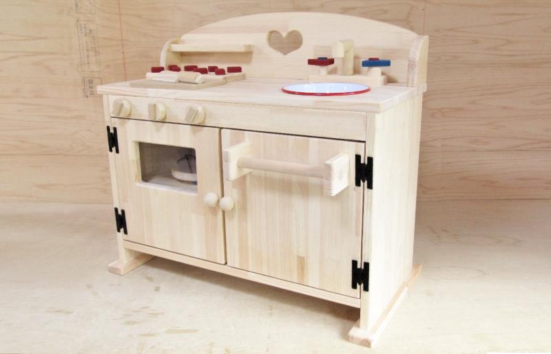 099H296 手作り木製 ままごとキッチン DHK-H