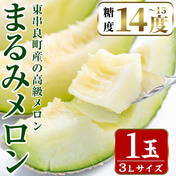 【10869】鹿児島県東串良町産の高級アールスメロン(3L×1玉)【まる美園芸組合】