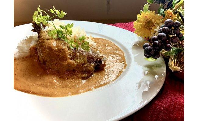 老舗レストランの鳥もも肉が丸ごと入った信玄鶏のコンフィ(バターカレー味) 10個入り
